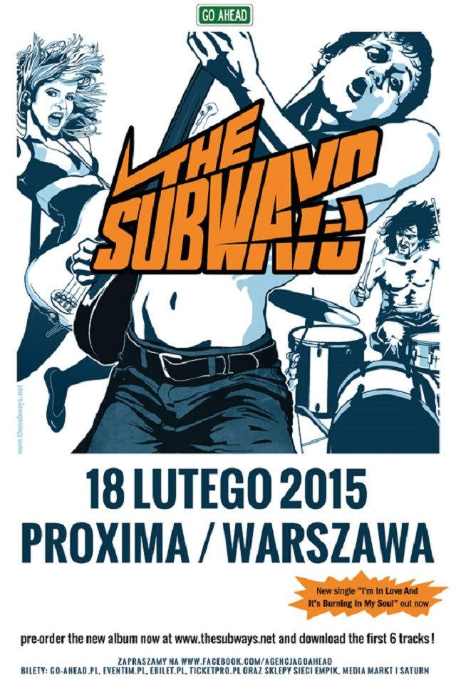 THE SUBWAYS w artykule @KTYWACJA: BILETY NA KONCERT THE SUBWAYS DO ZGARNIĘCIA!