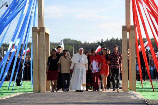 Brama Miłosierdzia -  Światowych Dni Młodzieży w Świątyni Opatrzności Bożej
