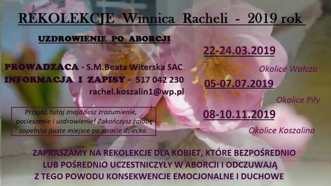 Rekolekcje Winnica Racheli